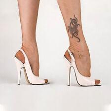 Women Stiletto High Heel Shoes Slingback Buckle Sexy Clubwear Peep Toe Big Size