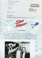 RON ELY LLOYD BRIDGES SEA HUNT RARE ORIGINAL 1987 PHOTO AND TV PRESS MATERIAL