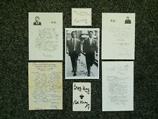 RON AND REG KRAY PHOTOS LETTERS SIGNED PREPRINT CARD