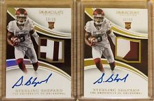 2016 Immaculate Sterling Shepard Rc Auto Patch /25,/99 2 Card Lot
