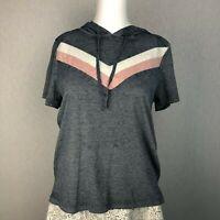 Hippie Rose Juniors' Colorblocked Burnout  Hoodie Shirt