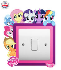MY LITTLE PONY Light Switch Surround Wall Sticker KIDS BOYS GIRLS Cover Decal