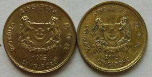 Singapore 2nd Series 5 cents coin 1995 & 2005