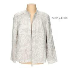 NEW $100 NWT COLDWATER CREEK 24W 1X 2X JACQUARD SHAPED IVORY LINED JACKET BLAZER
