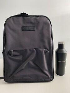JOHN VARVATOS 2 Piece Travel Bundle Backpack & Stainless Steel Water Bottle NWT