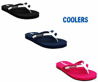 WOMENS COOLERS SLIP ON FLIP FLOPS SUMMER BEACH LADIES TOE POST FLAT SANDALS SIZE