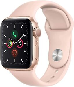 Apple Watch Series 4 GPS 40MM Gold Aluminum Case & Pink Sport Band Bad Condition