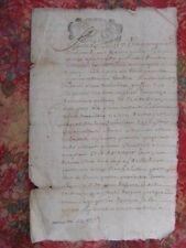 VIEUX PAPIER–DOCUMENT MANUSCRIT 1695-vieux français (DP-180)