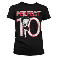 Officially Licensed Betty Boop- Betty Boop Perfect 10 Women T-Shirt S-XXL Sizes