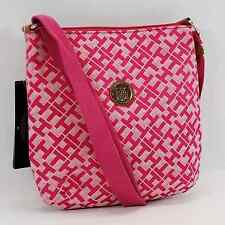 TOMMY HILFIGER AUTHENTIC PINK/WHITE TH LOGO SMALL CROSSBODY BAG PURSE NWT