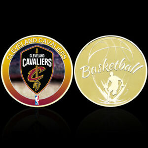 Basketball Team Badge Coin Gold Plated Coins Challenge Coin with Plastic Shell