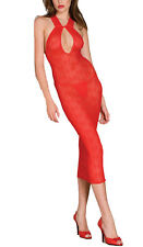 New Red lace halter long Dress Lingerie Nightwear Underwear Sleepwear one size