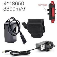Rechargeable 8.4V Battery Pack 8800mAh for CREE XML-T6 LED Bike Head lamp light