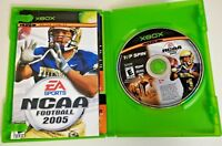 NCAA Football 2005 & Top Spin Tennis Microsoft Xbox 2005 w/ Box & Manual