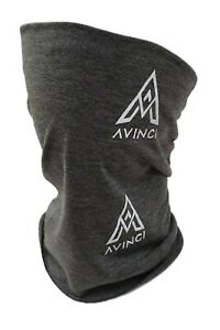 Avinci Grey Face Covering Mask Biker Tube Snood Scarf Seamless Neck Cover