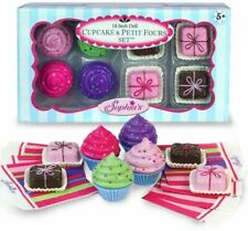 """Cupcakes & Petit Fours Sweets  8 PC Set 18"""" Doll Food For American Girl Dolls"""