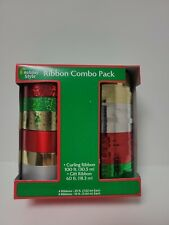 Curling Ribbon Combo Pack 160ft Christmas Holiday - Red, Green, Silver, Gold