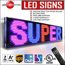 """LED SUPER STORE: 3COL/RBP/IR 12""""x31"""" Programmable Scrolling EMC Display MSG Sign"""