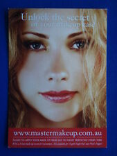 UNLOCK THE SECRET OF YOUR MAKEUP CASE - MASTER MAKEUP DEAN NIXON ADVERT POSTCARD
