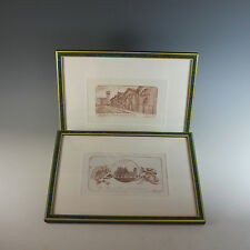 Set of Dry point etchings by Viviano Viviani of Pisa, Pencil Signed numbered