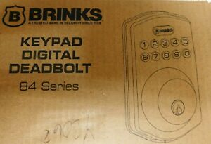 Brinks Keypad Digital Deadbolt-84 Series-Tuscan Bronze