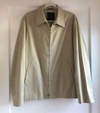 Canali Khaki Beige Zip Up Casual Dress Jacket Coat Size 52 42 Made In Italy