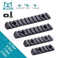 4PCS M-LOK Polymer Picatinny Weaver Rail Section 5 7 9 11 Slots Set MLOK Rail