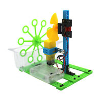DIY Bubble Machine Homemade Electric Toy Science Experiment Kit Manual Assembly