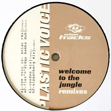 """PLASTIC VOICE - Welcome To The Jungle (Remixes) (12"""") (VG-/NM)"""