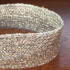 """SILVER LUREX BRAID- CHOOSE FROM 6MM (15/64"""") TO 25MM (1"""") X 5 METRES - GLITZY***"""