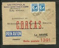 ROMANIA 1931 TO FRANCE AIR COVER WITH ADVERTISING, VF