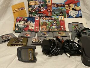 Nintendo 64 Console Bundle With Controllers And 7 N64 Games 2 CIB