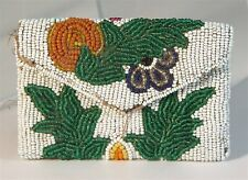 ca1910 Native American Plains Cree Indian Bead Decorated Pouch Small Bag