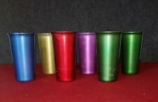 Vintage Anodized Aluminum Tumblers, Drinking, Cups. Lot Of 6.