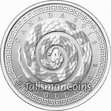 Canada 2013 Year Snake Chinese Lunar Zodiac $10 1/2 Ounce Pure Silver FULL OGP