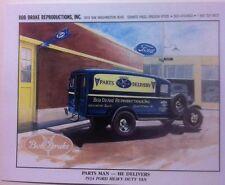 "/""1934 Ford 3 Window Coupe/"" Illustration 8x10 Reprint Garage Decor"