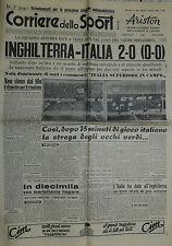 Corriere dello Sport N° 286 del 01 DIC.1949 - INGHILTERRA - ITALIA 2 -0 !