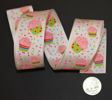 RIBBON with CUPCAKES, 1 Mtr, Gifts/Cards/Birthday/Bows