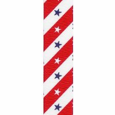 "5 yards 7.8"" PATRIOTIC 4TH OF JULY STARS STRIPES GROSGRAIN RIBBON"