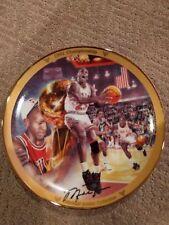 """Michael Jordan """"1991 Championship"""" Collectors Plate Upper Deck Bradford #'d COA"""