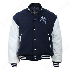Vintage Style NY Baseball JACKET - Navy Blue Mens Letterman Jersey - All Sizes