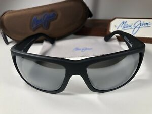 Maui Jim World Cup MJ 266-02MR Matte Black Sunglasses W/Grey Polarized Lens