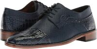 STACY ADAMS Men's Rodrigo Cap-Toe Lace-up Oxford, Blue, Size 14.0 z7bc