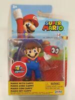 "Jakks Nintendo Super Mario Odyssey Mario With Cappy 2.5"" Mini Figure NEW SEALED!"