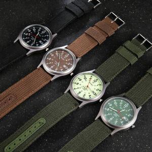 Men's Military Army Canvas Calendar Analog Quartz Sports Wrist Watch Gift