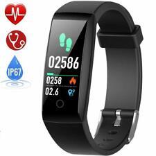 HETP Montre Connectée Cardiofréquencemètre Bracelet Connecté Podomètre GPS Fitne