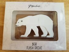 PAPERCHASE 8GB Flash Drive POLAR BEAR Shape Woodland Tails USB Stick BOX Gift