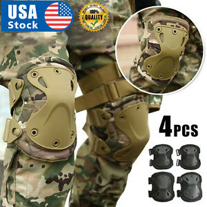 USA Tactical Military Army Elbow & Knee Pads Airsoft Paintball Sports Protection