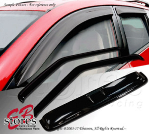Vent Shade Outside Mount Window Visor Sunroof Type 2 3pc Fiat 500 11-16 All