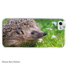 Animal lindo bebé Hedgehog caso claro se ajusta IPHONE 4S 5 5S 5 6 6S 7 8 SE C Plus X
